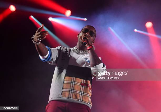 US Gucci Mane prforms during the Panorama Music Festival on Randall's Island in New York on July 28 2018