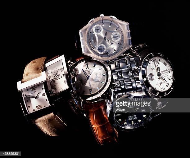Gucci, oméga, Swatch, Seiko, Dolce Gabbana wristwatches & de luxe