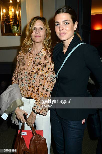 Gucci Paris Master Ambassador Virginie Couperie Eiffel and Charlotte Casiraghi attend the Gucci Paris Masters 2012 Press Conference at Salon France...