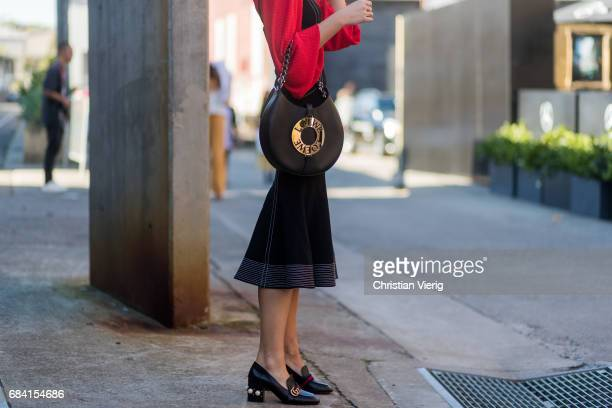 Gucci shoes and Loewe bag at day 4 during MercedesBenz Fashion Week Resort 18 Collections at Carriageworks on May 17 2017 in Sydney Australia