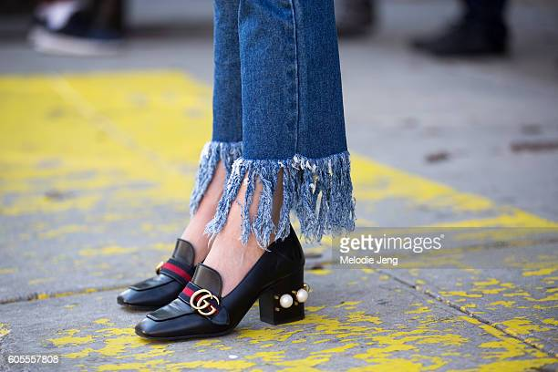 Gucci shoes outside the Rodarte show on September 13 2016 in New York City