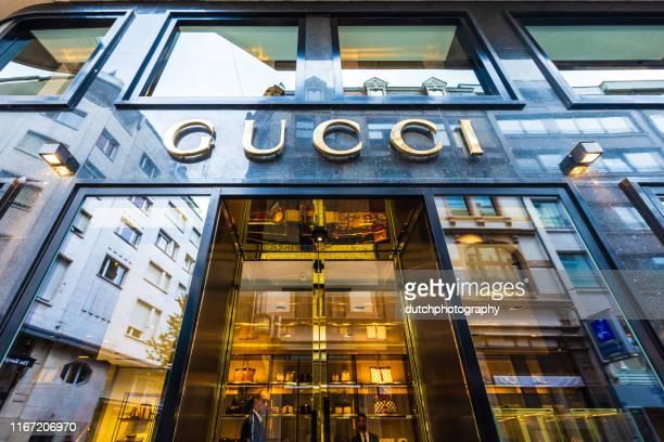 negozio gucci a lussemburgo-city - alta moda foto e immagini stock