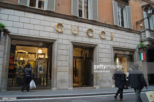 gucci store in via dei condotti, rome - gucci beauty stock pictures, royalty-free photos & images
