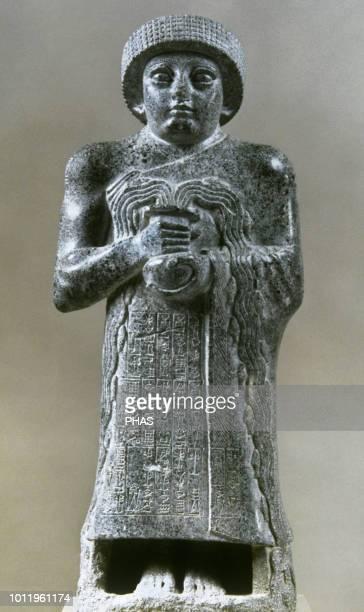 Gudea. Prince of Lagash. 12th century. Calcite. Temple E-ninnu, Ningirsu. Iraq. Museum of Louvre, Paris, France.