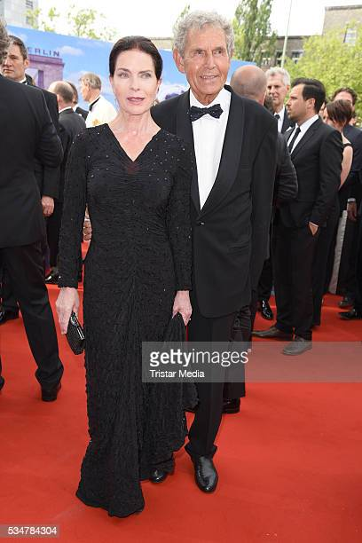 Gudrun Landgrebe and her husband Ulrich von Nathusius attend the Lola German Film Award 2016 Red Carpet Arrivals on May 27 2016 in Berlin Germany