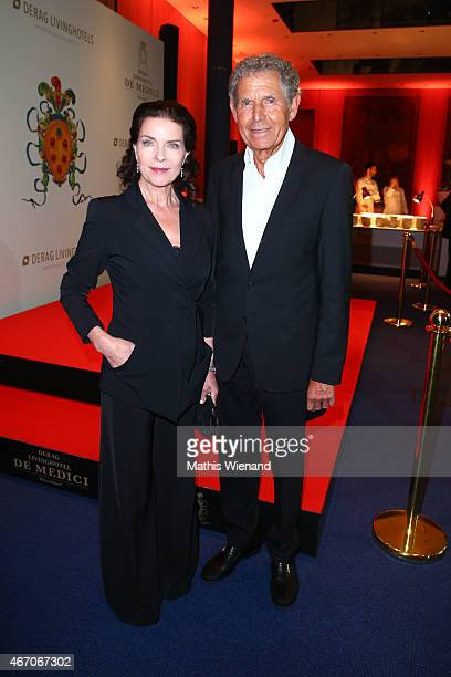 Gudrun Landgrebe and her husband Ulrich von Nathusius attends the De Medici Hotel Grand Opening on March 20 2015 in Duesseldorf Germany