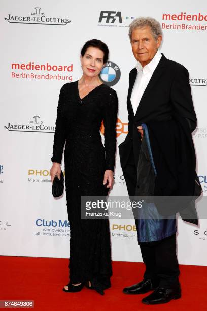 Gudrun Landgrebe and her husband Ulrich von Nathusius during the Lola German Film Award red carpet arrivals at Messe Berlin on April 28 2017 in...