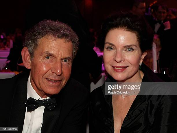 Gudrun Landgrebe and her husband Ulrich von Nathusius smile during the German Opera Ball 2009 at the Alte Oper on February 28 2009 in Frankfurt...