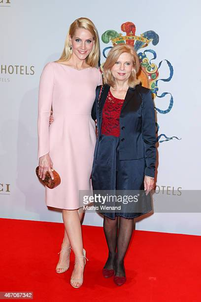 Gudrun Landgrebe and Judith Rakers attend the De Medici Hotel Grand Opening on March 20 2015 in Duesseldorf Germany