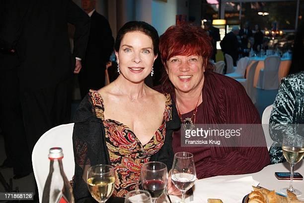 Gudrun Landgrebe and producer Regina Ziegler at the 90th birthday of Artur Brauner In Berlin On 130908