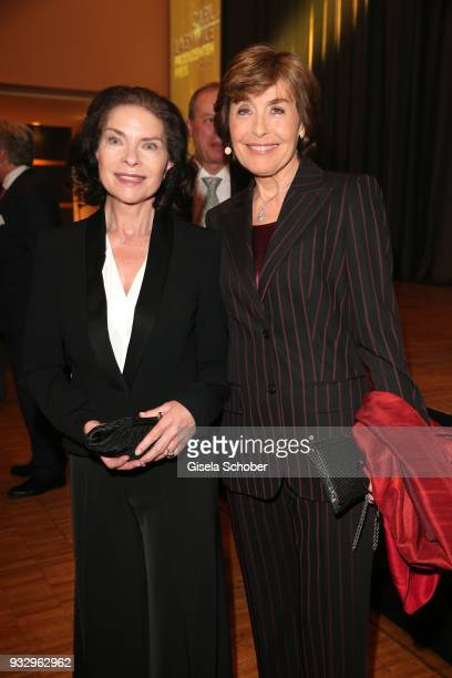 Gudrun Landgrebe and Thekla Carola Wied during the annual Carl Laemmle Producer Award at Kulturhaus Laupheim near Grosslaupheim Castle on March 16...