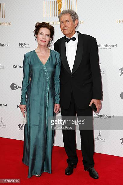 Gudrun Landgrebe and Ulrich von Nathusius attend at the Lola German Film Award 2013 at FriedrichstadtPalast on April 26 2013 in Berlin Germany