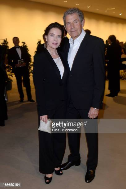 Gudrun Landgrebe and Ulrich von Nathusius attend the 20th AIDS Gala at the at Deutsche Oper Berlin on November 2 2013 in Berlin Germany