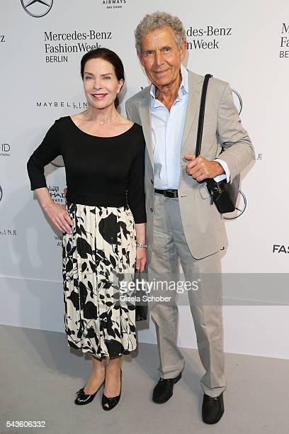 Gudrun Landgrebe and Ulrich von Nathusius attend the Minx by Eva Lutz show during the MercedesBenz Fashion Week Berlin Spring/Summer 2017 at Erika...