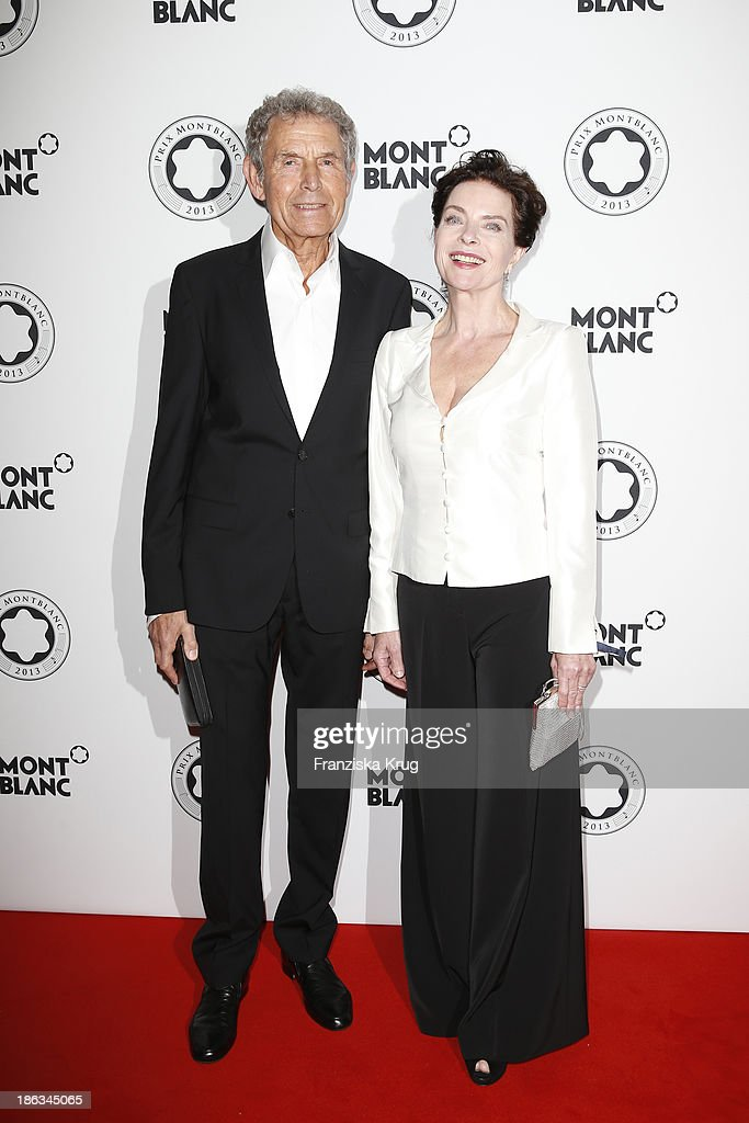 Gudrun Landgrebe and Ulrich von Nathusius attend the Prix Montblanc 2013 at Konzerthaus Am Gendarmenmarkt on October 30, 2013 in Berlin, Germany.