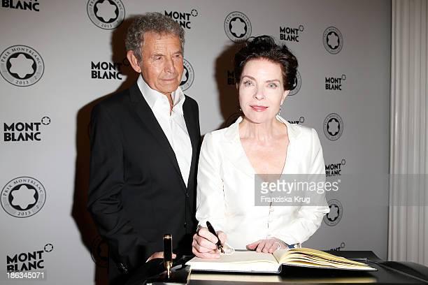 Gudrun Landgrebe and Ulrich von Nathusius attend the Prix Montblanc 2013 at Konzerthaus Am Gendarmenmarkt on October 30 2013 in Berlin Germany