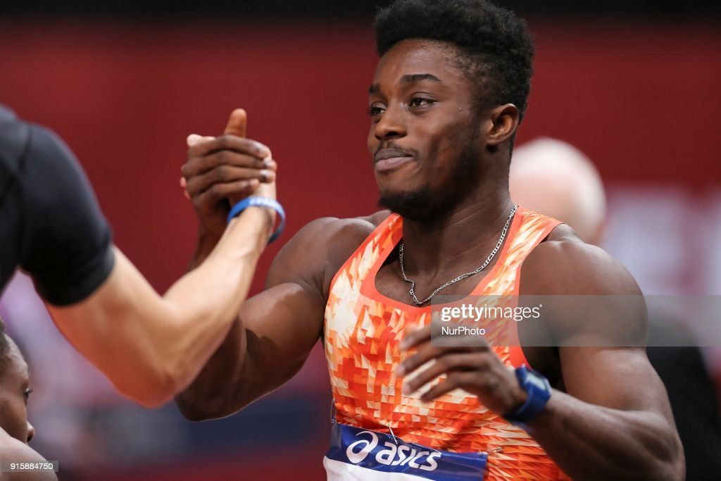 Gue Arthur Cisse of Ivory Coast wins the 60m during the Athletics Indoor Meeting of Paris 2018, at AccorHotels Arena (Bercy) in Paris, France on February 7, 2018.