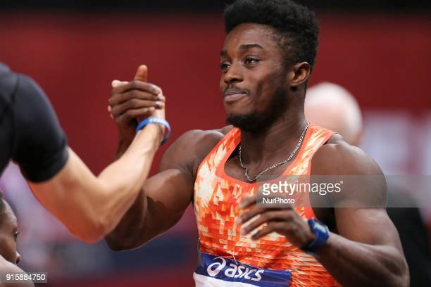 Gue Arthur Cisse of Ivory Coast wins the 60m during the Athletics Indoor Meeting of Paris 2018 at AccorHotels Arena in Paris France on February 7 2018