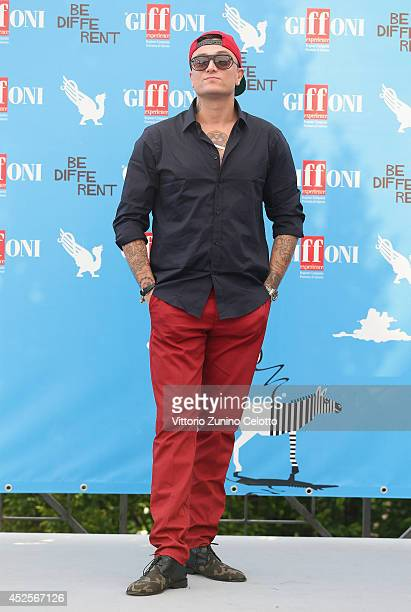 Gue Pequeno attends Giffoni Film Festival photocall on July 23 2014 in Giffoni Valle Piana Italy