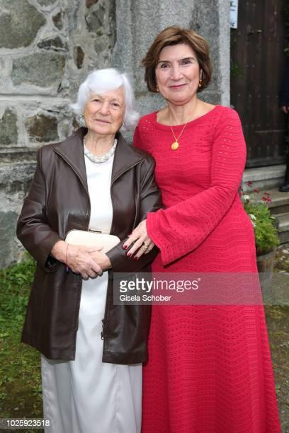 Guelseren Kaya mother of the bride Deniz Kaya and her mother Schuekran grandmother of the bride during the wedding of Prince Konstantin of Bavaria...
