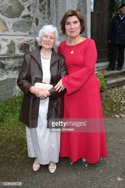 Guelseren Kaya mother of the bride Deniz Kaya and her mother Schuekran grandmother of the bride during the wedding of Prince Konstantin of Bavaria...