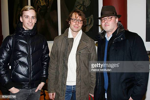 Guens Jeroen Pierre Alexander and Todd Eberle attend KARL LAGERFELD GREEK REVIVAL Exhibition hosted by PIERRE PASSEBON at DELORENZO Gallery on...
