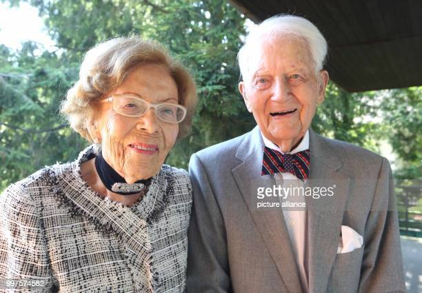 Guenter and Barbara Wind celebrate their 75th wedding anniversary in Koenigswinter Germany 19 July 2017 The couple married on the 3 August 1942 Photo...