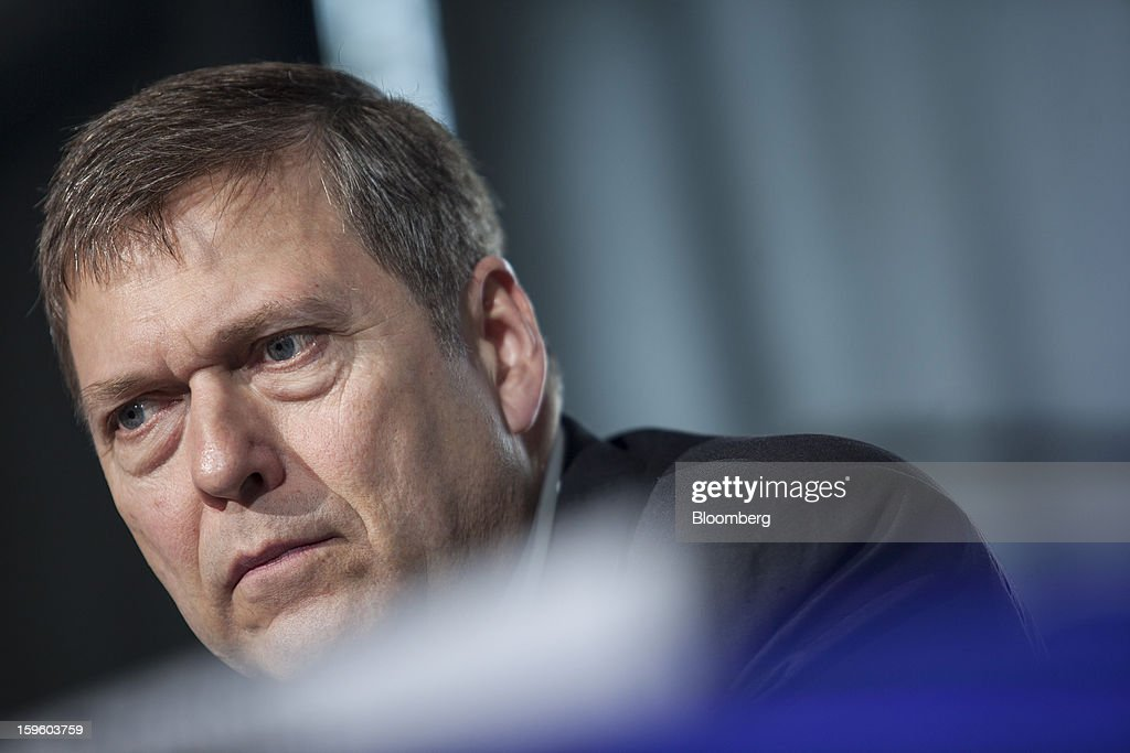Guenter Butschek, chief operating officer of Airbus SAS, pauses during a news conference in Colomiers, France, on Thursday, Jan. 17, 2013. Airbus SAS Chief Executive Officer Fabrice Bregier said he's sticking with a goal of flying the A350 jet mid-year and that it represents 'a lower risk approach' than the Boeing Co. 787 grounded by U.S. regulators yesterday. Photographer: Balint Porneczi/Bloomberg via Getty Images