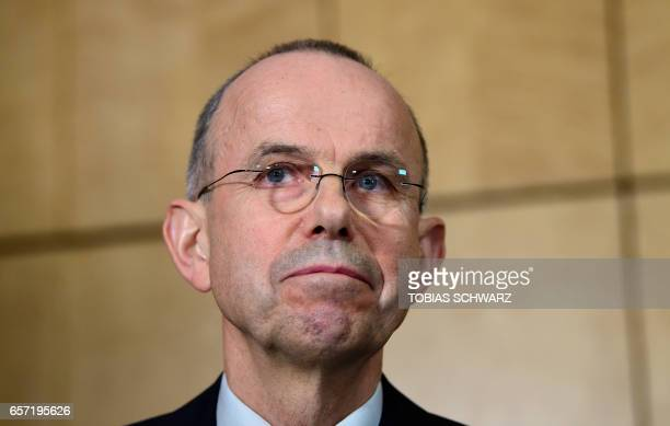 CORRECTION Guenter Lubitz the father of Andreas Lubitz the copilot who crashed 2 years ago the Germanwings flight killing 150 people in the French...