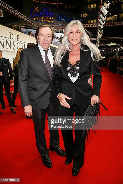 Guenter Netzer and Elvira Lang Netzer attend the 'Die Mannschaft' Premiere at Sony Centre on November 10 2014 in Berlin Germany