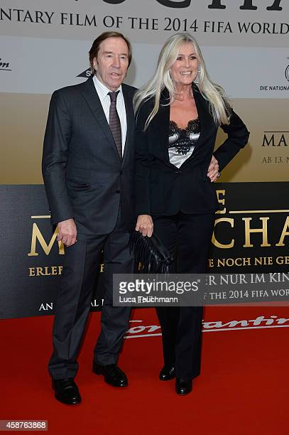 Guenter Netzer and Elvira Netzer attend 'Die Mannschaft' Premiere In Berlin on November 10 2014 in Berlin Germany