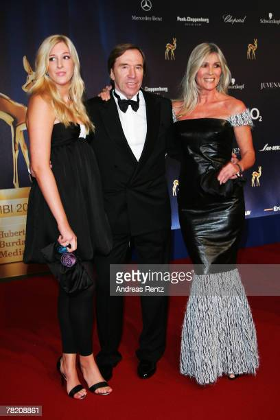 Guenter Netzer and his wife Elvira and daughter Alana attends the annual Bambi Awards 2007 on November 29 2007 in Duesseldorf Germany