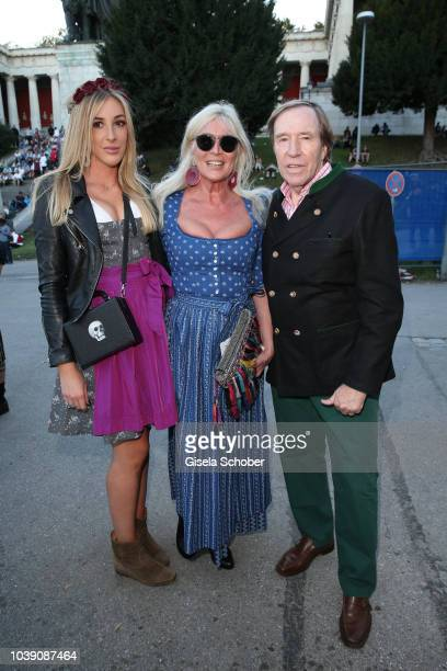 Guenter Netzer and his wife Elvira Netzer and daugher Alana Netzer during the Oktoberfest 2018 at Theresienwiese on September 23 2018 in Munich...
