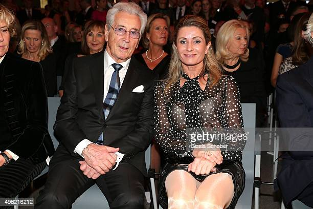 Guenther Bueschl and his wife Uta Bueschl during the PIN Party 4 Art at Pinakothek der Moderne on November 21 2015 in Munich Germany
