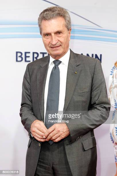 Guenther H Oettinger attends the 'Bertelsmann Summer Party' at Bertelsmann Repraesentanz on June 22 2017 in Berlin Germany