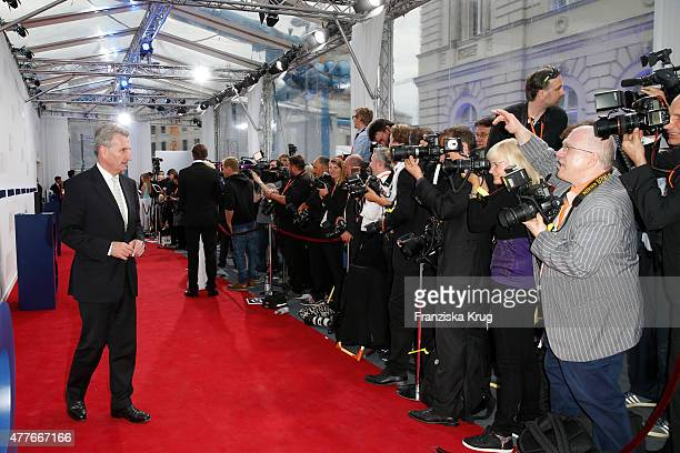 Guenther Hermann Oettinger attends the Bertelsmann Summer Party on June 18 2015 in Berlin Germany
