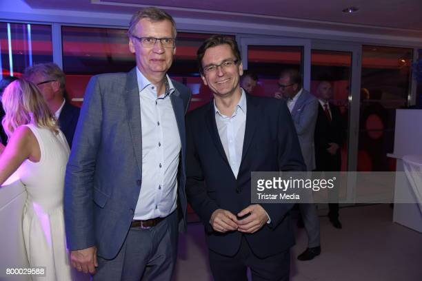 Guenther Jauch and Claus Strunz attend the Bertelsmann Summer Party on June 22 2017 in Berlin Germany