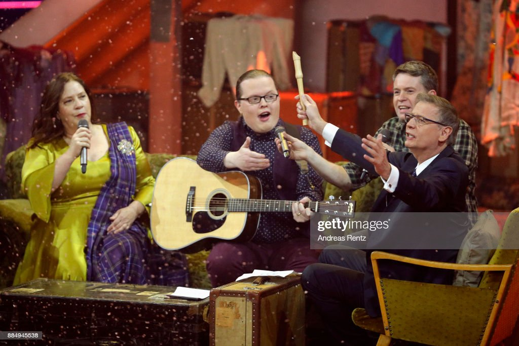 Guenther Jauch and the Kelly Family perform on stage at '2017! Menschen, Bilder, Emotionen' TV Show on December 3, 2017 in Huerth, Germany.