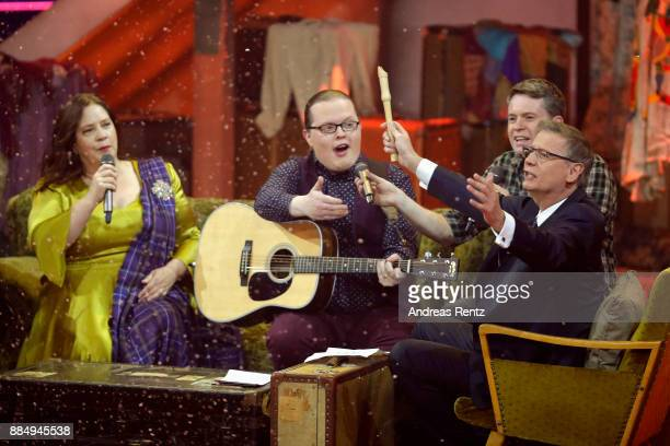 Guenther Jauch and the Kelly Family perform on stage at '2017 Menschen Bilder Emotionen' TV Show on December 3 2017 in Huerth Germany