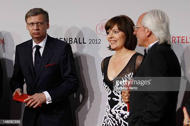 Guenther Jauch and wife Dorothea SihlerJauch attend the Rosenball at Hotel Intercontinental on June 9 2012 in Berlin Germany