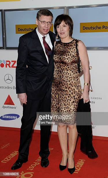 Guenther Jauch and wife Thea attend the 46th Golden Camera awards at the Axel Springer Haus on February 5 2011 in Berlin Germany