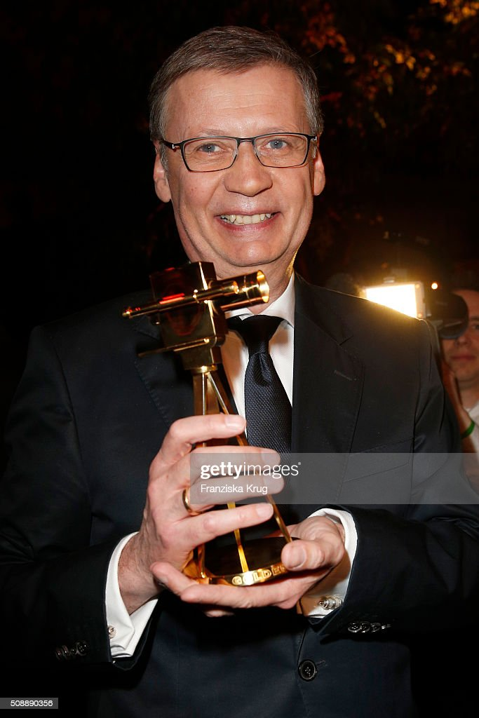 Guenther Jauch attends the Goldene Kamera 2016 show on February 6, 2016 in Hamburg, Germany.