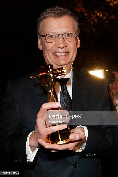 Guenther Jauch attends the Goldene Kamera 2016 show on February 6 2016 in Hamburg Germany