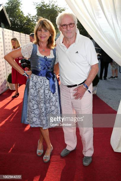 Guenther Maria Halmer and his wife Claudia Halmer during a bavarian evening ahead of the Kaiser Cup 2018 on July 20 2018 in Bad Griesbach near Passau...