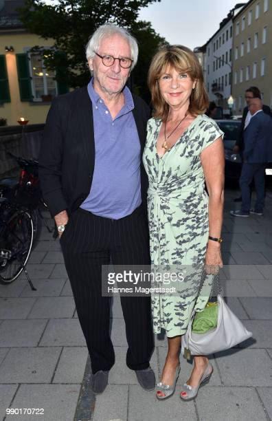 Guenther Maria Halmer and his wife Claudia Halmer the UFA Fiction Reception during the Munich Film Festival 2016 at Cafe Reitschule on July 2 2018 in...