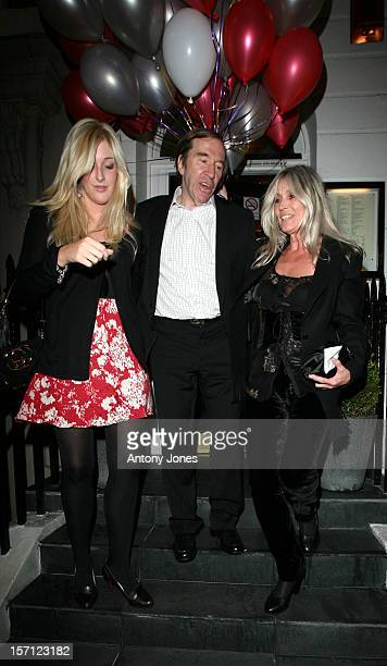 Guenther Netzer And His Wife Elvira With Their Daughter Alana Attend Boris Beckers 40Th Birthday Party At The Carpaccio Restaurant In London