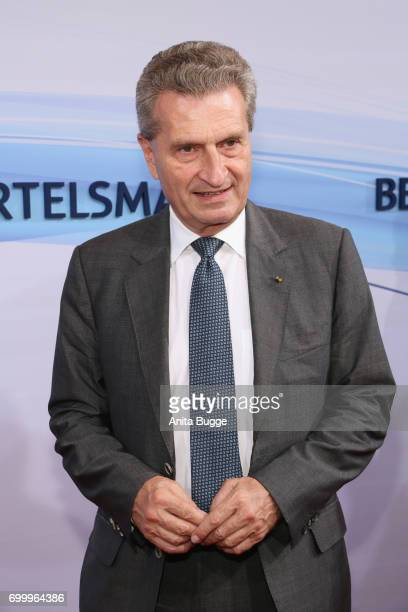 Guenther Oettinger attends the Bertelsmann Summer Party at Bertelsmann Repraesentanz on June 22 2017 in Berlin Germany