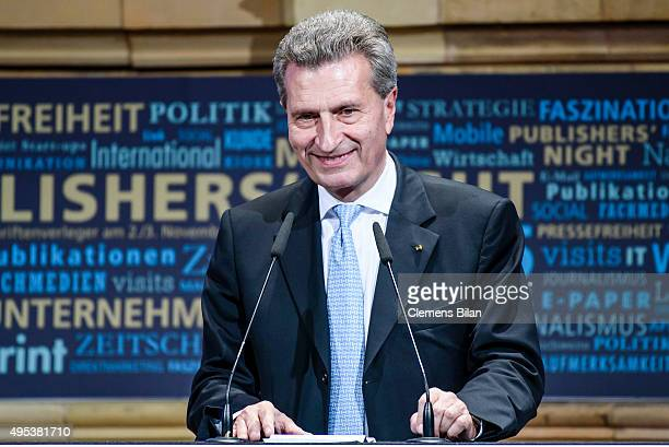 Guenther Oettinger attends the VDZ Publishers Night on November 2 2015 in Berlin Germany