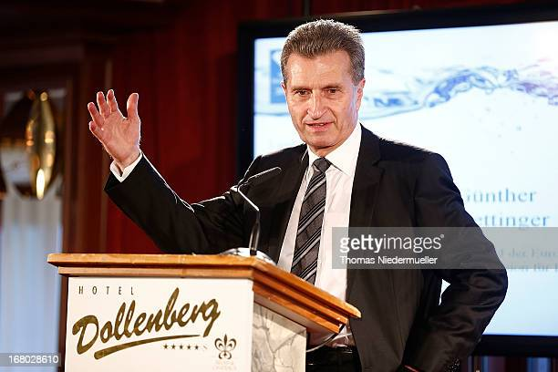 Guenther Oettinger speaks during the Spa Diamond Award 2013 on May 4 2013 in Bad PeterstalGriesbach Germany