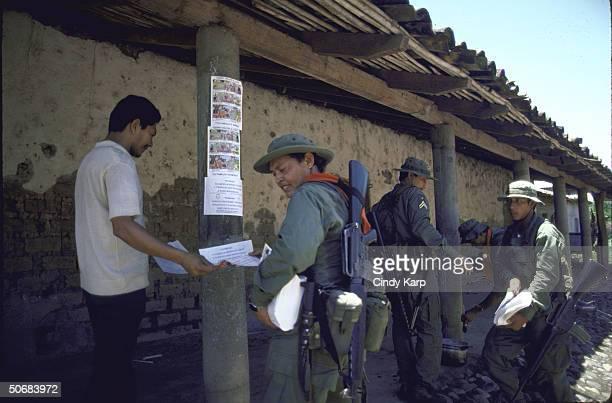 FMLN guerillas in town of Dulce Nombre de Maria